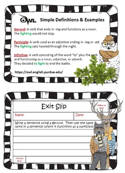8th Grade Exit Slips for Common Core ELA
