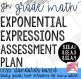 8th Grade Exponential Expressions Assessment Plan Go Math
