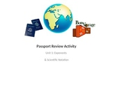 8th Grade Exponents & Scientific Notation Passport Activity CC 8.EE.1, 3 & 4