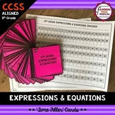 8th Grade Expressions & Equations Time Filler Card Bundle