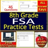 8th Grade FSA Math Test Prep Practice - Printable AND Google Ready!