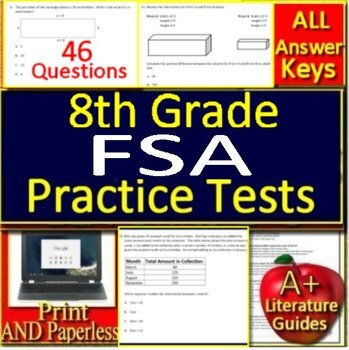 graphic about 8th Grade Math Test Printable named 8th Quality FSA Math Try Prep Coach - Printable AND Google Geared up!