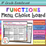 8th Grade Functions Choice Board – Enrichment Math Menu