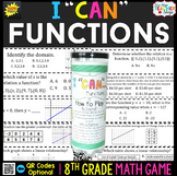 8th Grade Functions, Comparing Functions, and MORE Game