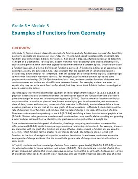 8th Grade Functions from Geometry Lessons, Worksheets, and Exit Tickets