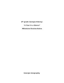 8th Grade GA History Milestone Review Key
