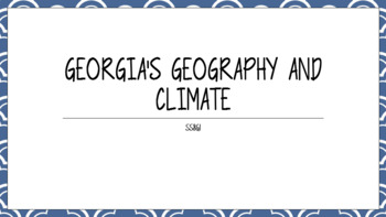 8th Grade GSE Aligned Geography Standards SS8G1