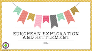 8th Grade GSE NEW European and Exploration and Settlement SS8H1 WITH Test