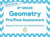 8th Grade Geometry (8.G.5 - 8.G.9) Common Core Assessment