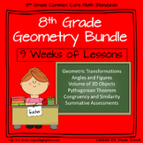 8th Grade Math Geometry Bundle 9+ weeks