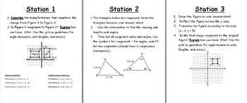 8th Grade Geometry: Congruency and Similarity of Shapes on a Coordinate Plane