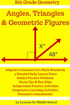 8th Grade Geometry Geometric Figures And Angles By Lessons For