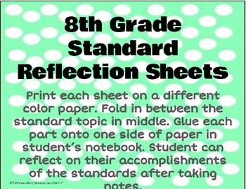 8th Grade Geometry Reflection Sheet