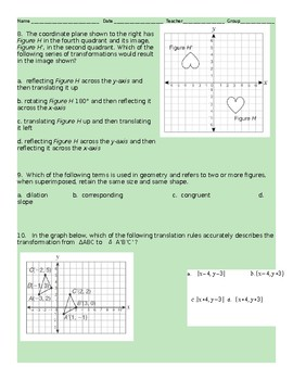 8th Grade Geometry Review