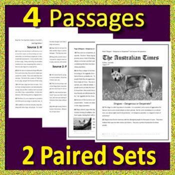 8th Grade Georgia Milestones Test Prep ELA - GMAS - Printable AND Paperless