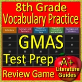 8th Grade Georgia Milestones Test Prep Vocabulary Practice Review Game - GMAS