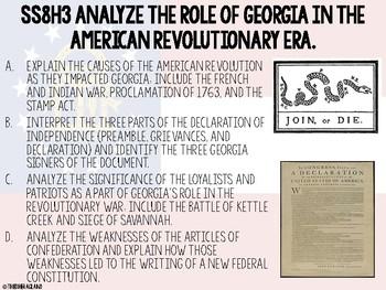 8th Grade Georgia Studies Georgia Standards of Excellence