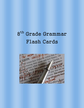 8th Grade Grammar Flash Cards