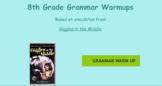 8th Grade Grammar Warmups - Week One