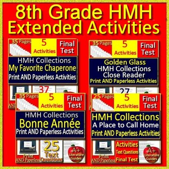 8th Grade HMH Collections Extended Activities Google Classroom Distance Learning