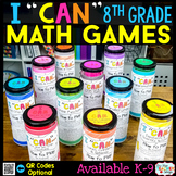 8th Grade I CAN Math Games BUNDLE   Test Prep Review