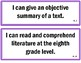 """8th Grade """"I Can..."""" Statements - CCSS"""