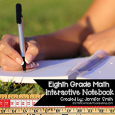 Eighth Grade Math Interactive Notebook Bundle- All Standards