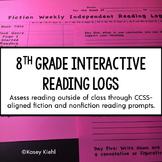 8th Grade Interactive Reading Log {Common Core Aligned}