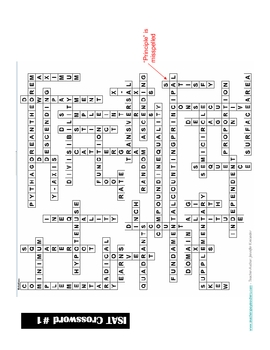 8th Grade ISAT Vocabulary List (Definitions) and Crossword Puzzle