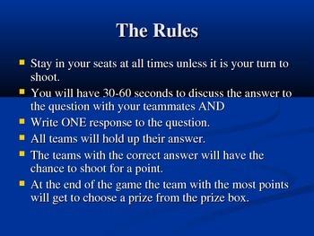 8th Grade KS Reading Assessment Trashketball Review Game