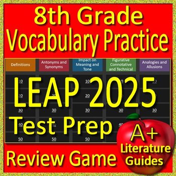 8th Grade LEAP 2025 Test Prep Reading Vocabulary Practice Review Game