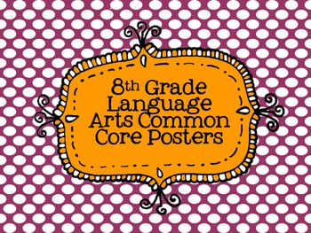 8th Grade Language Arts Common Core Posters