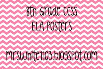 8th Grade Language Arts Common Core Posters (CCSS)
