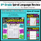 8th Grade Language Assessments | Grammar Quizzes | 2 Weeks FREE