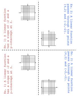 8th Grade Linear Descriptions Lesson: FOLDABLE & Homework