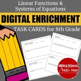 8th Grade Linear Functions & Systems of Equations Digital
