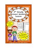 8th Grade Linear Models Lesson: FOLDABLE & Homework