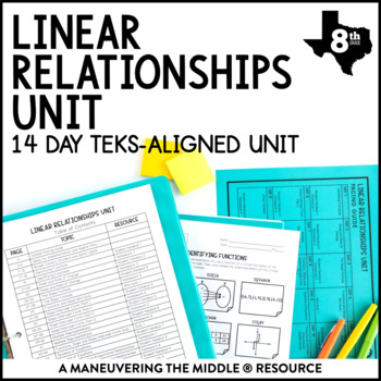 8th Grade Linear Relationships Unit: TEKS 8.4A, 8.4B, 8.4C, 8.5A, 8.5B, 8.5E