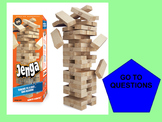 8th Grade MATH PARCC Jenga Review Game