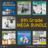 8th Grade MEGA BUNDLE: a whole year of engaging activities !