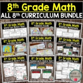 8th Grade Math Curriculum (Entire Year Bundle)