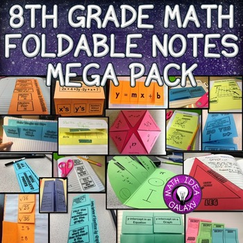 8th Grade Math Interactive Notebook by Idea Galaxy | TpT