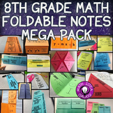 8th Grade Math Interactive Notebook Foldable Notes Only Bundle