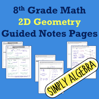 2D Geometry Guided Notes Pages