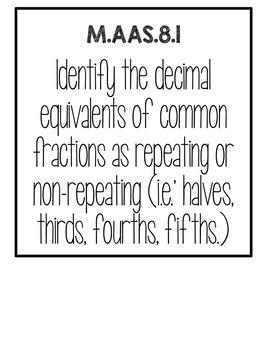 M.AAS.8 FULL SET of Standard Posters (Alabama's Alternate Achievement Standard)