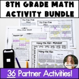 8th Grade Math Activities! NO Prep Bundle!