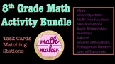 8th Grade Math Activity Bundle  ~ 10 Great Review Activities