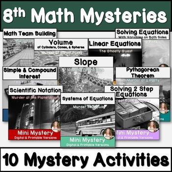 8th Grade Math Activity Bundle! CCSS Aligned!