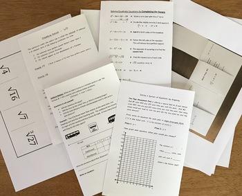 8th Grade Math/Algebra 1 Interactive Notebook Bundle