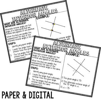 8th Grade Math Anchor Charts: Geometry Bundle